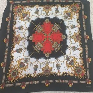 Huge Regimental Hermes  Silk Scarf